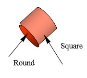 359 Square and Round Shape