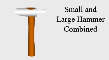 93 Small and Large Hammer Combined