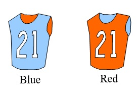 147 Red and Blue Jersey